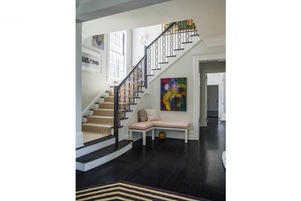 modern waterfront darien michael haverland architect stairway