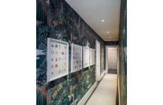 modern waterfront darien michael haverland architect hallway