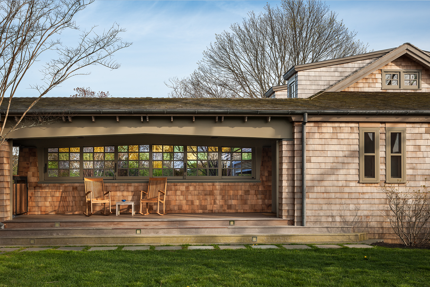 Century Old East Hampton Sanvold Blanda Architecture Outside Deck