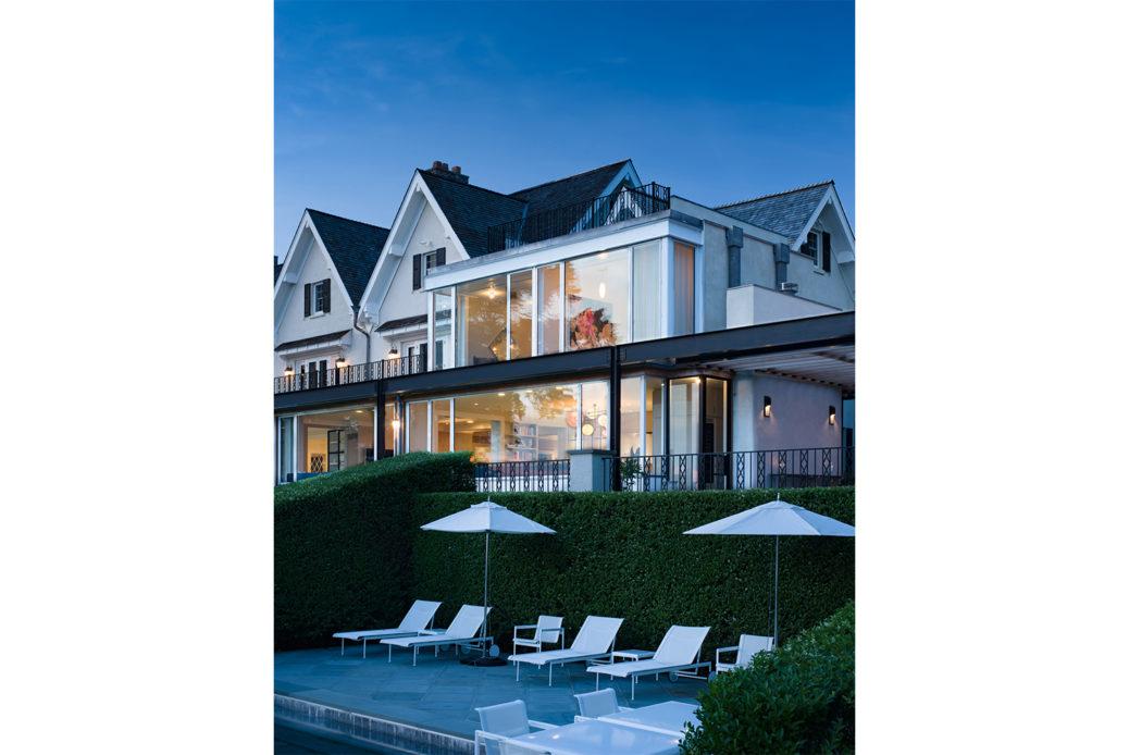 modern waterfront darien michael haverland architect deck