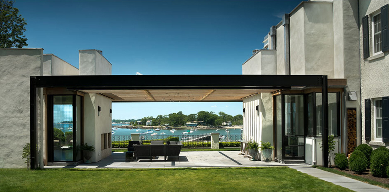 modern waterfront darien michael haverland architect