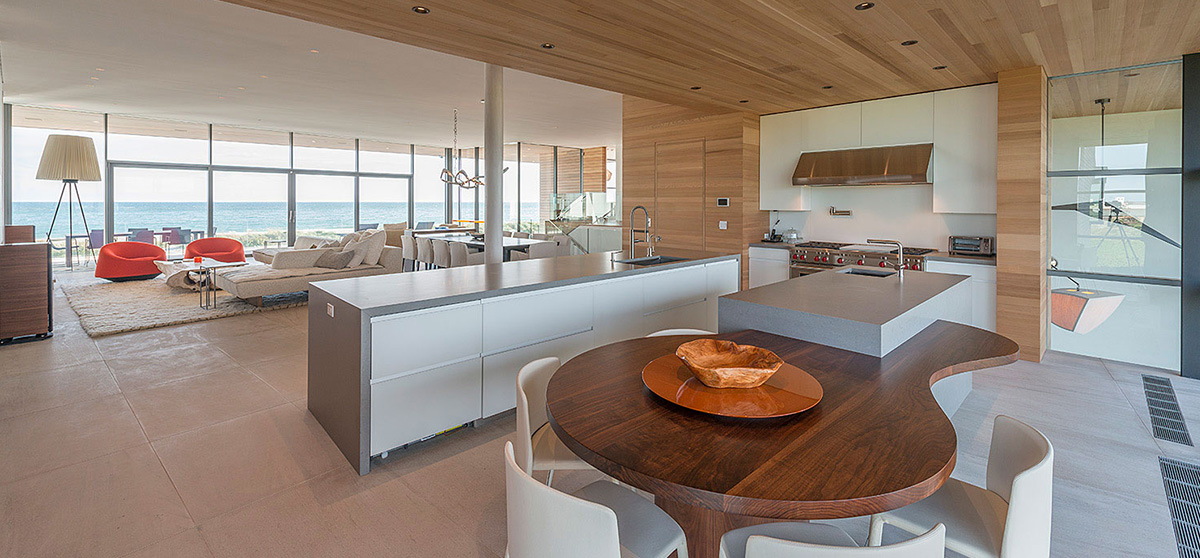 modern beachfront bridgehampton barnes coy architect kitchen